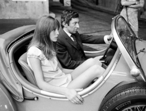 ARCHIVES - SERGE GAINSBOURG ET JANE BIRKIN EN VOITURE - SANS DAT
